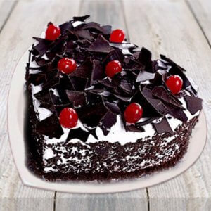 Heart Shape Black Forest Cake - Online Cake Delivery In Ludhiana