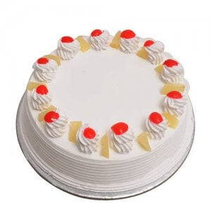 Eggless Pineappale Cake 500 Gms Online from Way2flowers
