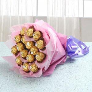 Ferrero Rocher Bunch - Chocolate Day Gifts