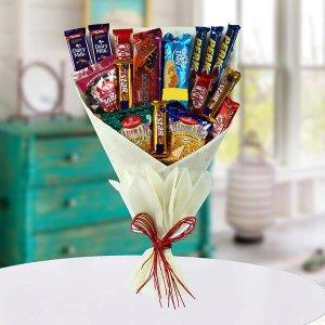 Mix Snacks Bouquet - Anniversary Chocolates