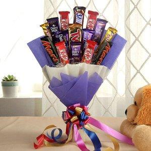 Blazing Choco Bouquet - Anniversary Chocolates