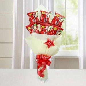 Cute Choco Pie Bouquet - Anniversary Chocolates