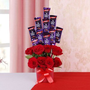 Aroma of Chocolaty Love - Online Flower Delivery in Mohali