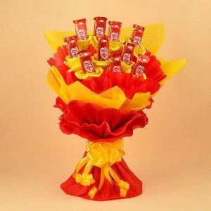 KitKat Chocolate Bouquet - Send Diwali Chocolates Online