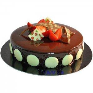 Chocolate Truffle Round Cherry Cake - Send Chocolate Truffle Cakes Online
