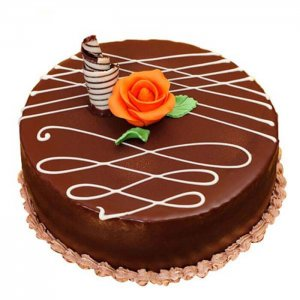 Round Chocolate Truffle Cake - Send Chocolate Truffle Cakes Online