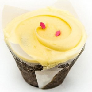 Butterscotch Top Blue 6 Cup Cakes - Online Cake Delivery - Send Cup Cakes Online