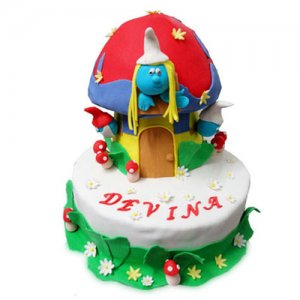 Smurf Cake - Birthday Cake Online Delivery