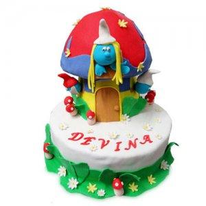 Smurf Cake - Birthday Cake Online Delivery