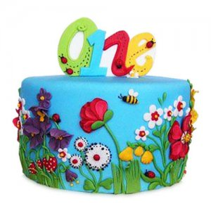 Flowers N Petals Cake - Birthday Cake Online Delivery