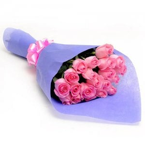 Emotion N Feelings 20 Pink Roses Online from Way2flowers - Rose Day Gifts Online