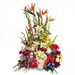 Glamorous Encounter 100 Mix Roses Online from Way2flowers - Same Day Delivery Gifts Online