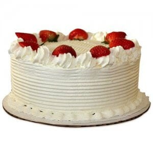 Five Star - Strawberry Cake - Birthday Cake Online Delivery - Send Five Star Cake Online