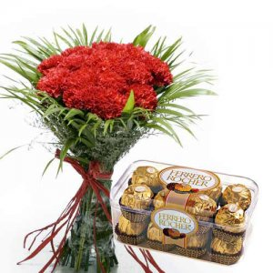 Key To Heart - Send Carnations Flowers Online
