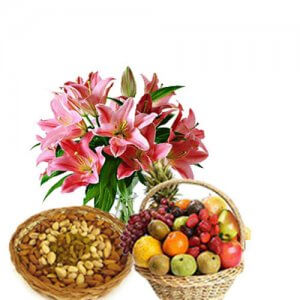 Logo of Love - Flowers with fresh fruits online