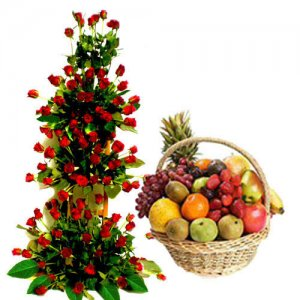 Forever Yours - Flowers with fresh fruits online