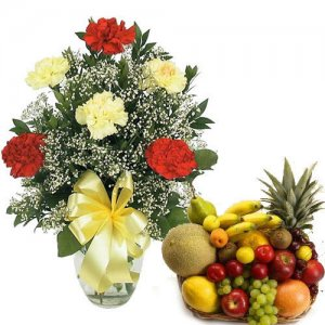 Its For You - Flowers with fresh fruits online