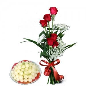 Lucky N Love - Online Flower Delivery in India - Flowers with Sweets Online
