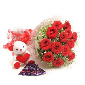 Flower Combo - Flowers with Soft Toys online