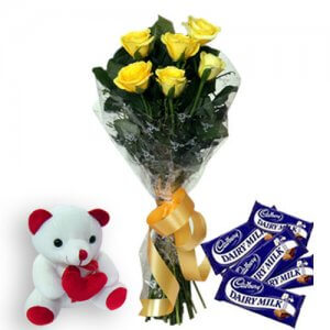Roses N Chocolates - Chocolate Day Gifts