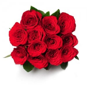 My Emotions 12 Red Roses Online from Way2flowers - 5th Anniversary Gifts