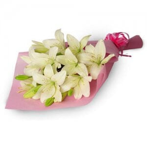My Angel 6 White Lilies - Send Valentine Gifts for Him Online