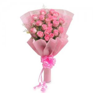 Pretty 20 Pink Roses - Flower Bouquet Online