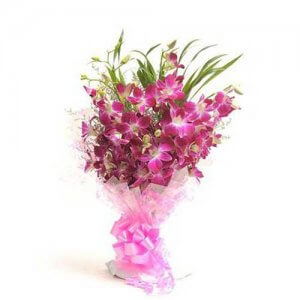 Perfect N Elegance 6 Purple Orchids Online from Way2flowers