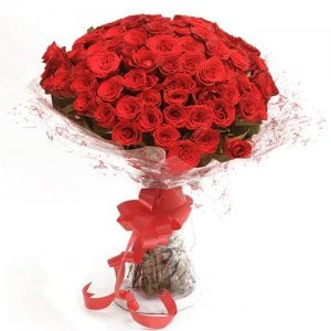 Love & Love 75 Red Roses Online from Way2flowers