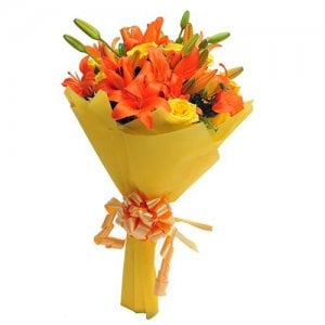 Orange Delight - Flower Bouquet Online