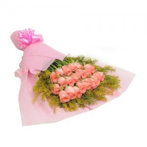 Blush 20 Baby Pink Roses Online from Way2flowers - 10th Anniversrary Gifts