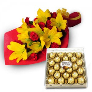 Exotic Hamper - Send Carnations Flowers Online