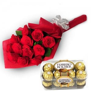 Charming Roses - Flowers with Chocolate