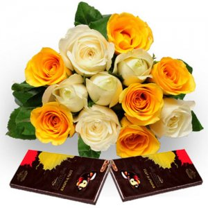 Roses N Chocolate - Online Flower Delivery in India - Rose Day Gifts Online