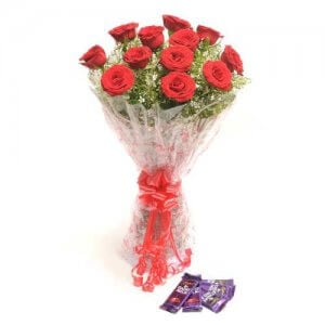 Rosy N Sweet - Online Flower Delivery in India - Flowers with Chocolate