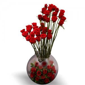 A BIG Hug N Love - Glass Vase Arrangements