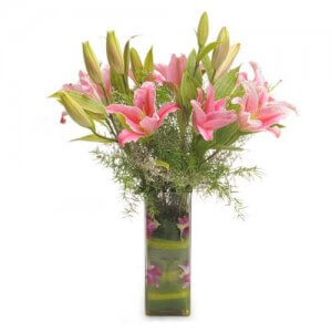 Oriental Bliss - Online Gift Shop - Glass Vase Arrangements