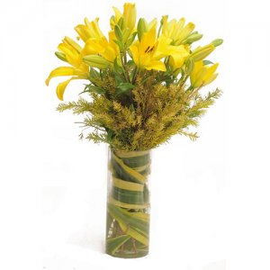 Yellow Asiatic Lilies  -  Online Gift Shop