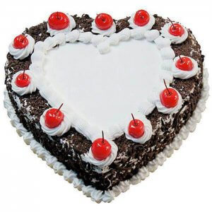 Heart Shape Black Forest - Online Cake Delivery