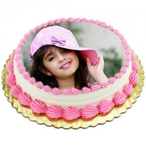 1kg Photo Cake Pineapple   -   Online Cake Delivery