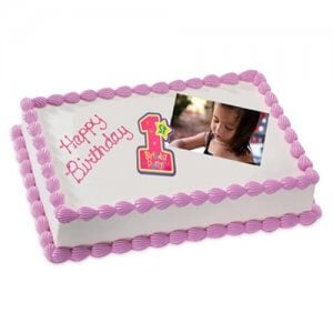 1kg Photo Cake Chocolate Sponge Eggless - Birthday Cake Online Delivery