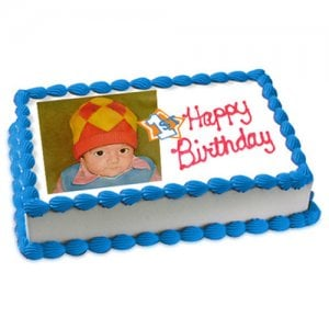 1st Birthday Cake Eggless 1kg - Birthday Cake Online Delivery