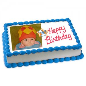 1st Birthday Cake Eggless 1kg - Birthday Cake Online Delivery - Send Personalised Photo Cakes Online