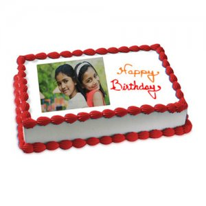 Happy Birthday Photo Cake Eggless 1kg - Birthday Cake Online Delivery - Send Eggless Cakes Online
