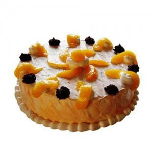 Orange Tickle Cake 1kg - Birthday Cake Online Delivery - Send Mixed Fruit Cakes Online