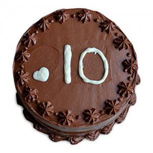 Chocolate Anniversary Cake Half Kg - Birthday Cake Online Delivery