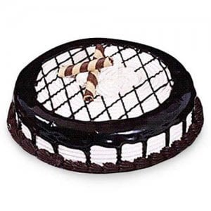 Mocha Checkered Cake 1kg - Birthday Cake Online Delivery