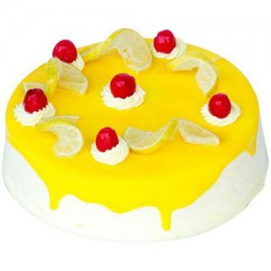Lemon Vanilla Cake Half Kg - Birthday Cake Online Delivery - Online Cake Delivery in India