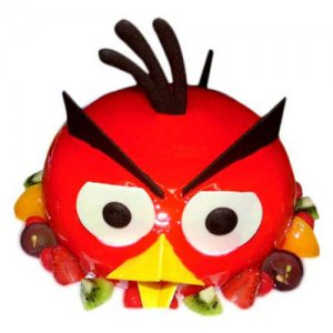 The Red AngryBird Cake 1kg - Birthday Cake Online Delivery - Online Cake Delivery in India