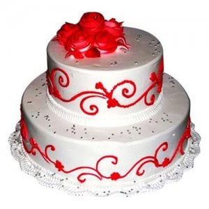 The Royal Three Tier Cake 3 Kg - Birthday Cake Online Delivery - Valentine Cakes Online